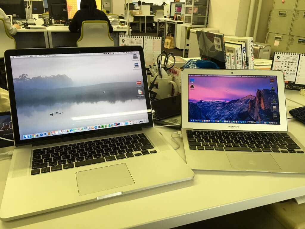 MacBook Pro 15inchとMacBook Air 11inch