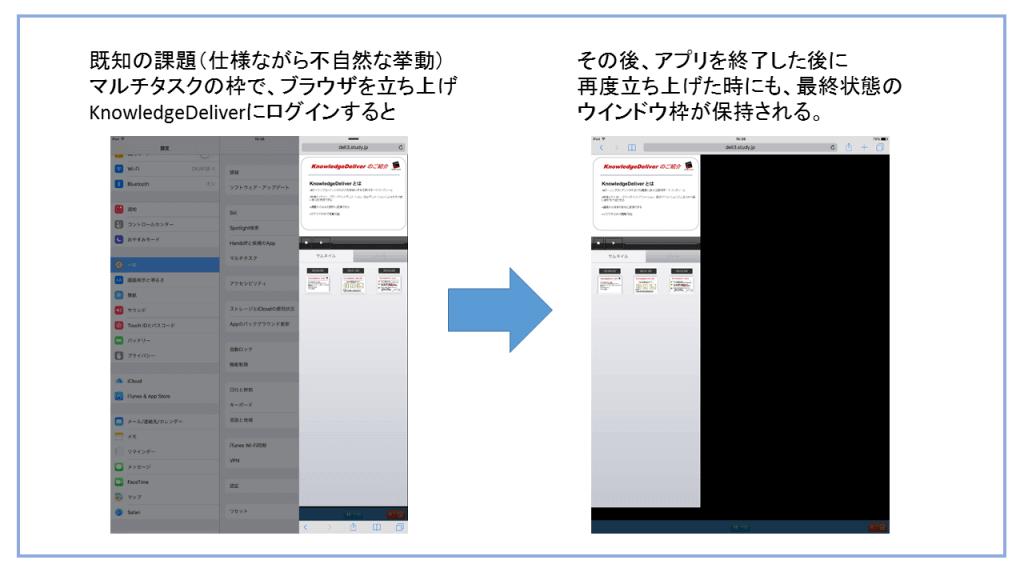 iPad Proのマルチタスク機能を用いた状態での不自然な挙動のキャプチャ