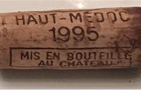 1995年ワインのコルク
